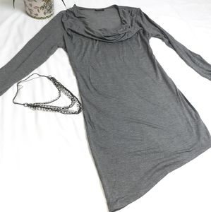 Love Culture grey long sleeve cow kneck mini dress